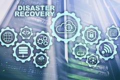 Concetto di recupero da disastro di Big Data piano di sostegno Prevenzione degli infortuni di dati su uno schermo virtuale illustrazione vettoriale