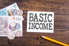 Concetto di reddito di base immagini stock