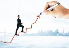 Concetto di reddito e di successo immagine stock libera da diritti