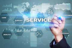 Concetto di relazione e di servizio di assistenza al cliente Immagini Stock Libere da Diritti