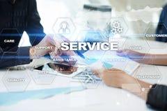 Concetto di relazione e di servizio di assistenza al cliente Immagini Stock