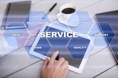 Concetto di relazione e di servizio di assistenza al cliente Concetto di affari Fotografia Stock
