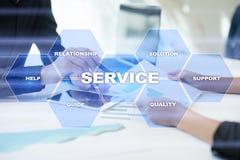 Concetto di relazione e di servizio di assistenza al cliente Concetto di affari Fotografia Stock Libera da Diritti