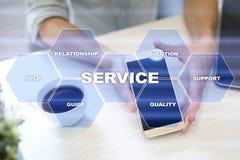 Concetto di relazione e di servizio di assistenza al cliente Concetto di affari Fotografie Stock