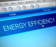 Concetto di rendimento energetico illustrazione vettoriale