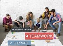 Concetto di responsabilità di sostegno di unità di unità di lavoro di squadra immagine stock