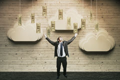Concetto di ricchezza felice Fotografia Stock Libera da Diritti