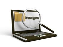 Concetto di ricerca del dispositivo di piegatura illustrazione di stock