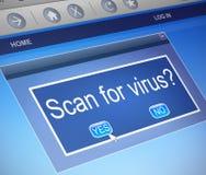 Concetto di ricerca del virus Immagine Stock