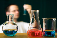 Concetto di ricerca di chimica immagine stock libera da diritti