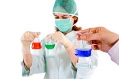 Concetto di ricerca di chimica fotografie stock libere da diritti