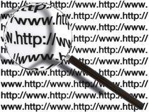 Concetto di ricerca di Web page Fotografia Stock