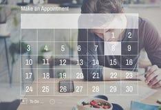 Concetto di ricordo di mese di evento del diario di giorno della data di calendario Fotografia Stock