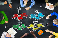 Concetto di ricreazione di spettacolo di svago di strategia del gioco di scacchi Immagine Stock Libera da Diritti