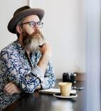 Concetto di rilassamento di ricreazione della pausa caffè fotografia stock