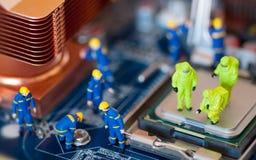 Concetto di riparazione del calcolatore Fotografia Stock