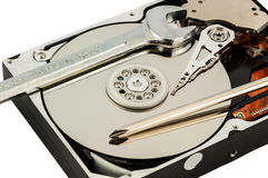 Concetto di riparazione del disco rigido Immagine Stock