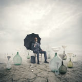 Concetto di riscaldamento globale Immagini Stock