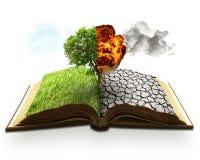 Concetto di riscaldamento globale di ecologia Screen saver del paesaggio immagini stock libere da diritti