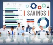 Concetto di risparmi dei fondi BudgetEconomy di finanza di risparmio fotografie stock