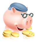Concetto di risparmio del pensionato Fotografia Stock