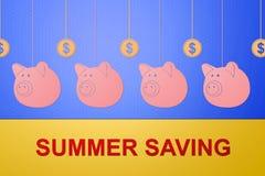Concetto di risparmio di estate Fotografia Stock
