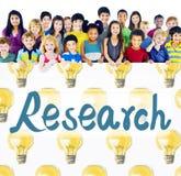 Concetto di risultati di informazioni di scoperta di risposta di ricerca fotografie stock