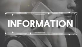 Concetto di risultati rapporto di ricerca di dati di informazioni fotografie stock