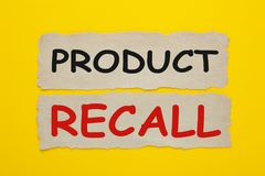 Concetto di ritiro dei prodotti fotografia stock