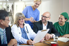 Concetto di riunione del dottore Teamwork Diagnosis Corporate Immagine Stock