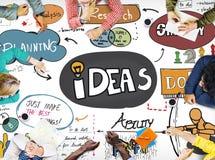 Concetto di riunione di programmazione di cooperazione di 'brainstorming' della lavagna Fotografie Stock Libere da Diritti