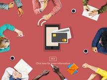 Concetto di riunione di programmazione di cooperazione di 'brainstorming' della lavagna Fotografie Stock