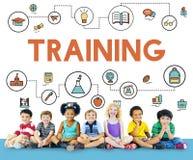 Concetto di saggezza di alfabetizzazione di sviluppo della scuola di formazione fotografia stock