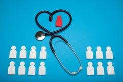Concetto di salute del cuore, cardiologia Paziente medico immagine stock libera da diritti
