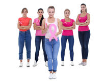 Concetto di salute di consapevolezza del cancro al seno Fotografie Stock