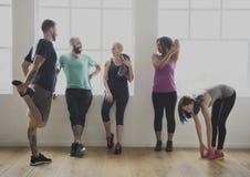 Concetto di salute di forma fisica di esercizio di allenamento Immagini Stock Libere da Diritti