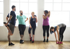 Concetto di salute di forma fisica di esercizio di allenamento Immagini Stock