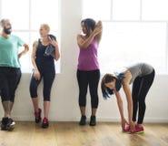 Concetto di salute di forma fisica di esercizio di allenamento Immagine Stock Libera da Diritti