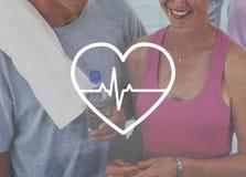 Concetto di salute di Rate Heartbeat Medical Frequency Pressure fotografia stock