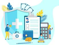 Concetto di salute di ipotensione e di ipertensione illustrazione di stock