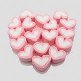 Concetto di San Valentino dei cuori della caramella gommosa e molle Immagini Stock