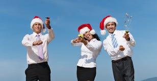 Concetto di Santa Hat Business Travel Vacations di Natale fotografia stock libera da diritti