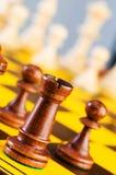 Concetto di scacchi con le parti Fotografia Stock Libera da Diritti