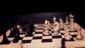 concetto di scacchi 3D Scacchiera con il ciclo dei pezzi degli scacchi con l'alfa Animazione del gioco di scacchiera Scacchiera c illustrazione vettoriale