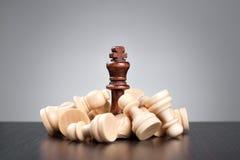 Concetto di scacchi di vittoria Fotografie Stock Libere da Diritti