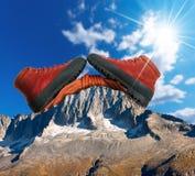 Concetto di scalata di montagna Fotografia Stock Libera da Diritti