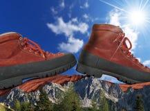 Concetto di scalata di montagna Immagini Stock Libere da Diritti