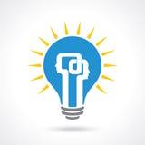 Concetto di scambio di idea - illustrazione Fotografia Stock