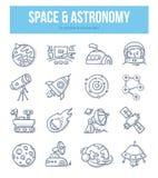 Concetto di scarabocchio di astronomia & dello spazio illustrazione vettoriale