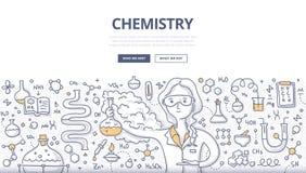 Concetto di scarabocchio di chimica royalty illustrazione gratis